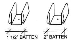 ACS Batten Spacer Clip