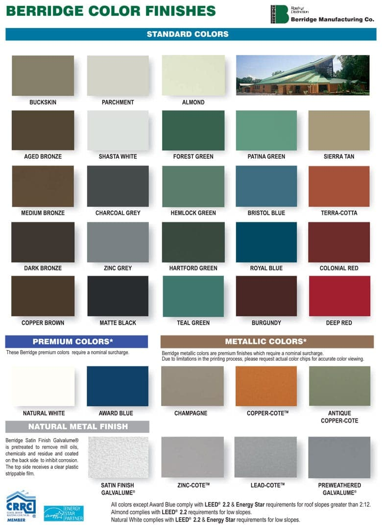Berridge Metal Colors